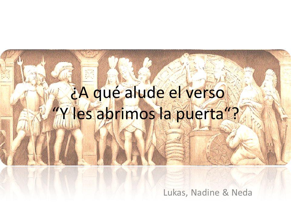 Audiencia en la corte de Moctezuma Cortés y los soldados españoles llegaron a México Moctezuma invitaba a Cortés y los soldados a su corte Los soldados tenían armaduras y zapatos Pero los aztecas tenían capas y adorno de plumas en la cabeza Moctezuma mostraba un gesto de bienvenida Cortés estaba sentado