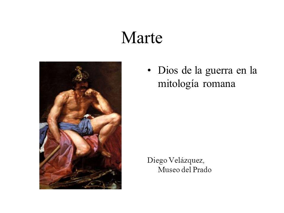 Marte Dios de la guerra en la mitología romana Diego Velázquez, Museo del Prado