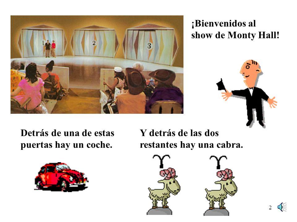 1 The Monty Hall Problem Lets Make a Deal fue un famoso concurso en las décadas 60-70 de la televisión de EEUU presentado por Monty Hall y Carol Merril.