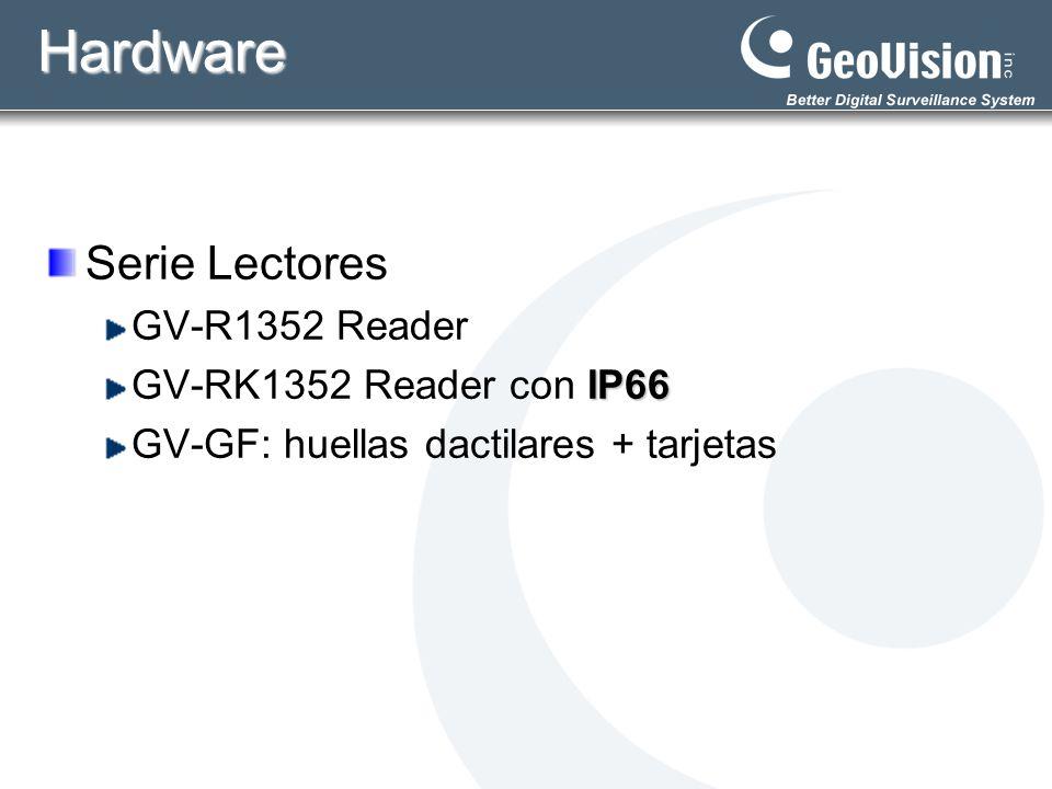 Integración con DVR Accesorios requeridos Cámara IP Servidor de Video: GV-VS12, GV-VS04H Monitoreo en directo: Visualizar escena en la puerta Controlar entrada/salida del personal