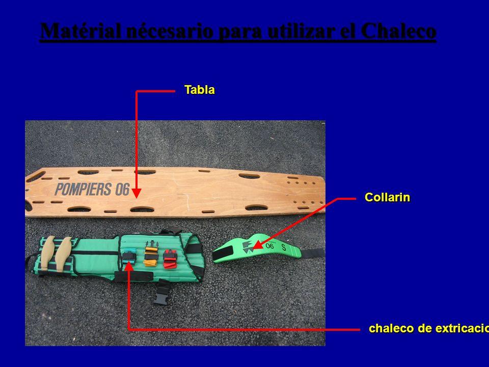 Matérial nécesario para utilizar el Chaleco Tabla Collarin chaleco de extricacion