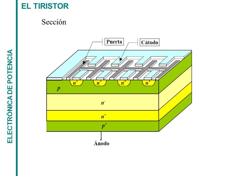 EL TIRISTOR ELECTRÓNICA DE POTENCIA Sección longitudinal