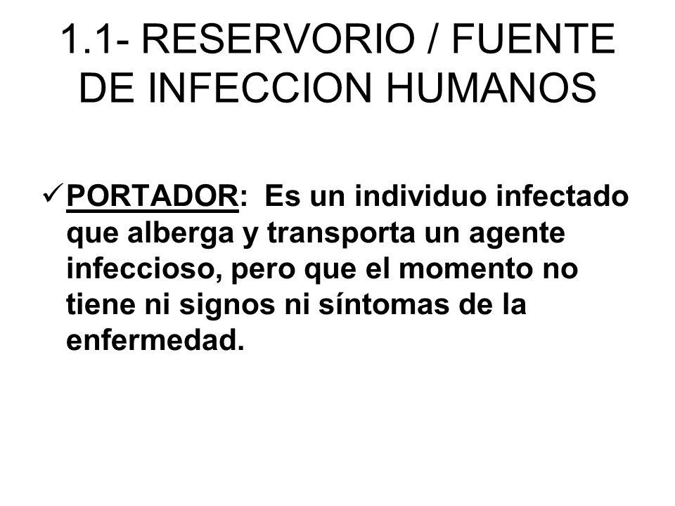 PORTADOR: Es un individuo infectado que alberga y transporta un agente infeccioso, pero que el momento no tiene ni signos ni síntomas de la enfermedad