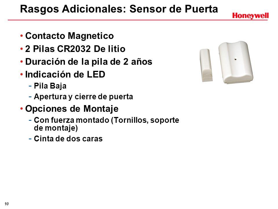 10 Rasgos Adicionales: Sensor de Puerta Contacto Magnetico 2 Pilas CR2032 De litio Duración de la pila de 2 años Indicación de LED - Pila Baja - Apert