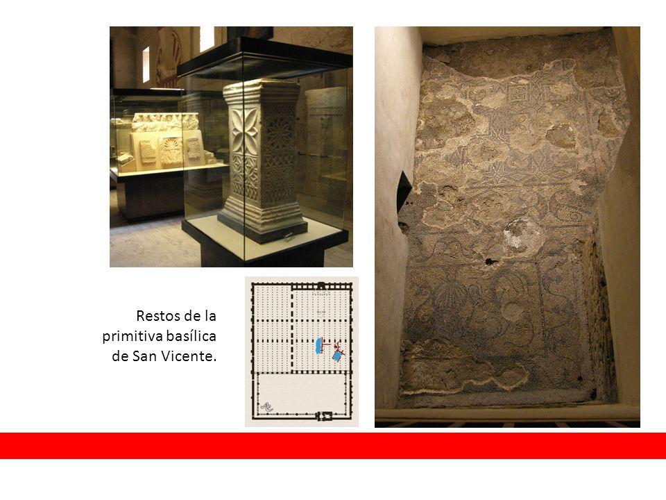 Restos de la primitiva basílica de San Vicente.
