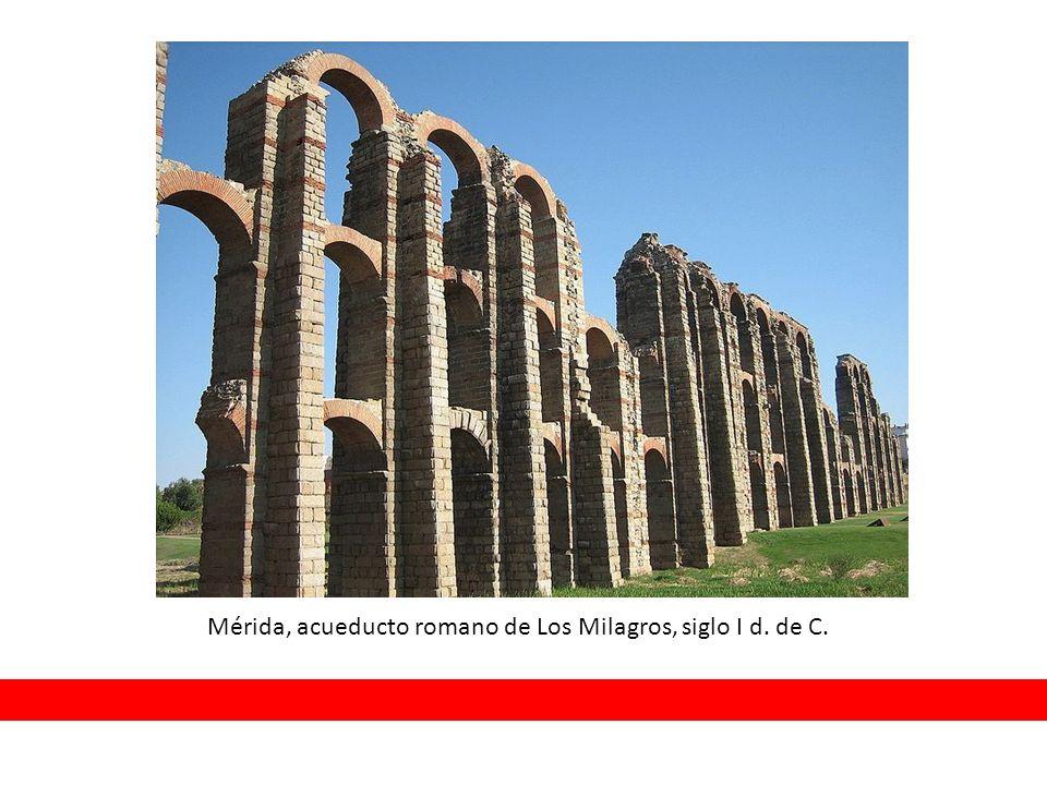 Mérida, acueducto romano de Los Milagros, siglo I d. de C.