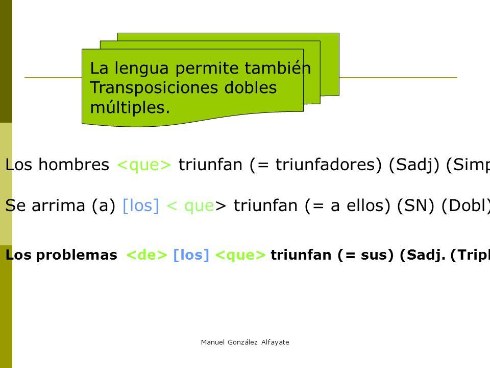 Manuel González Alfayate Un ejemplo de Sub consecutiva tanto calor /que/ Carolina se puso muy colorada SN CD NS Adj (Det (cuantificador)) T.Ady T.A Su
