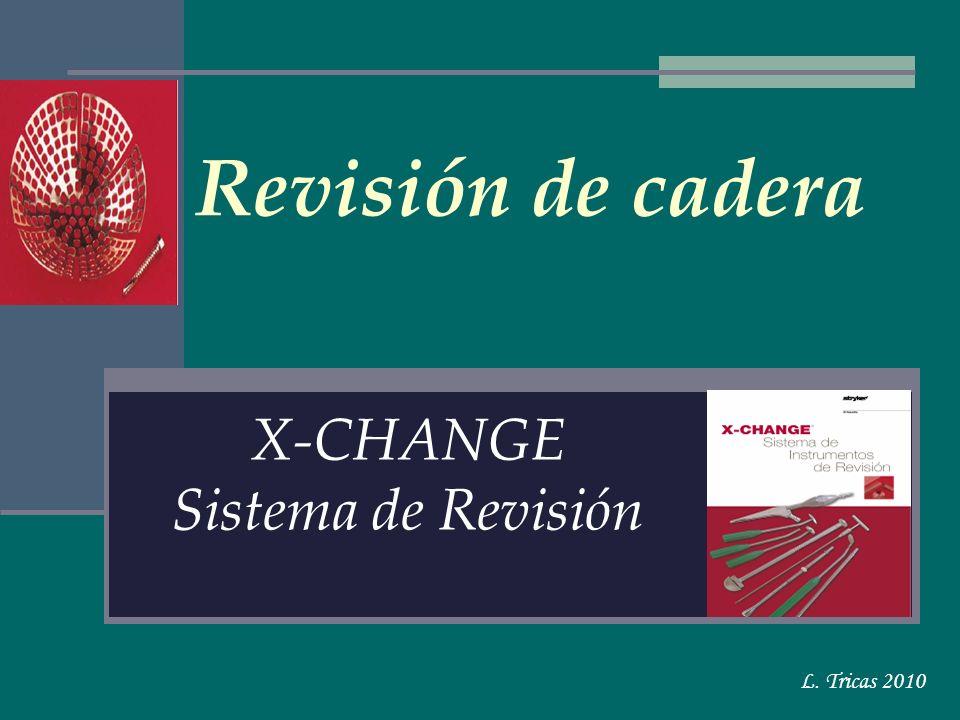 Revisión de cadera X-CHANGE Sistema de Revisión L. Tricas 2010