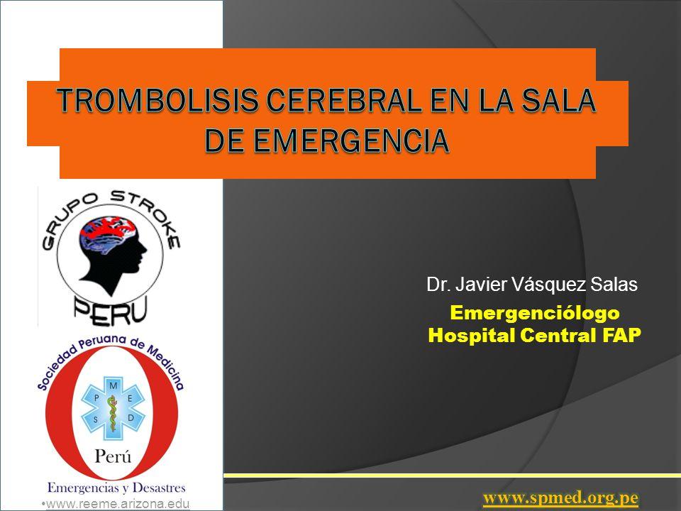 Estudios Trombolísis en ACV ECASS I - II Jama 1995 - 1998 (Europeo) ASK Jama 1996 (Australiano) Prohibieron el uso de STK Mast I Mast E Lancet 1995 Primeros resultados favorables con rTPA.