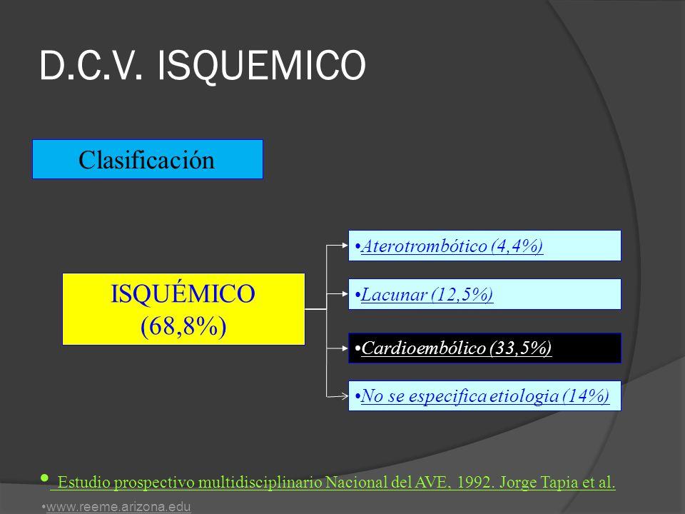 CASO No 2: Varón de 62 años, hemiparesia, hemiipoestesia izquierda 45 min.