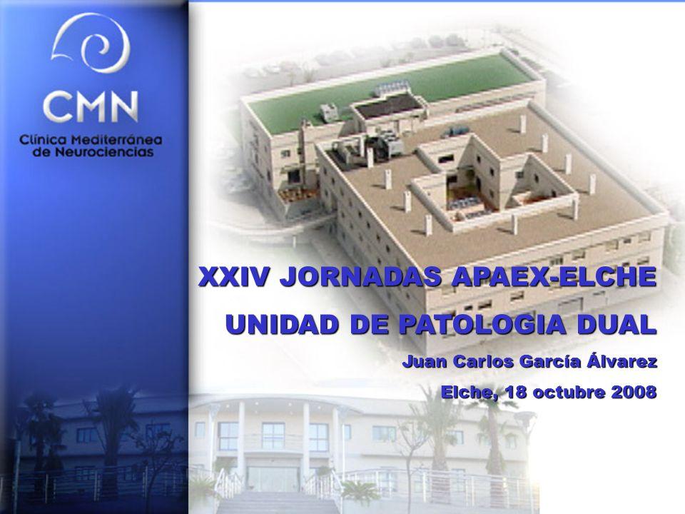 XXIV JORNADAS APAEX-ELCHE UNIDAD DE PATOLOGIA DUAL Juan Carlos García Álvarez Elche, 18 octubre 2008