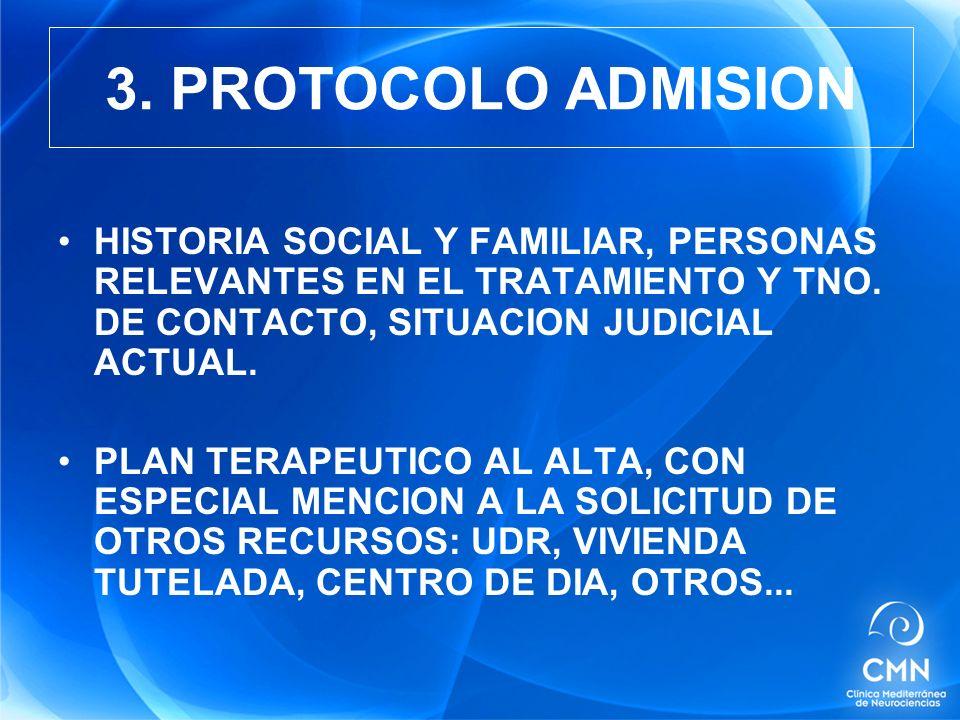 HISTORIA SOCIAL Y FAMILIAR, PERSONAS RELEVANTES EN EL TRATAMIENTO Y TNO.