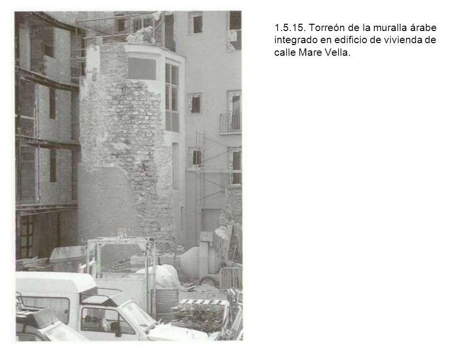 1.5.15. Torreón de la muralla árabe integrado en edificio de vivienda de calle Mare Vella.