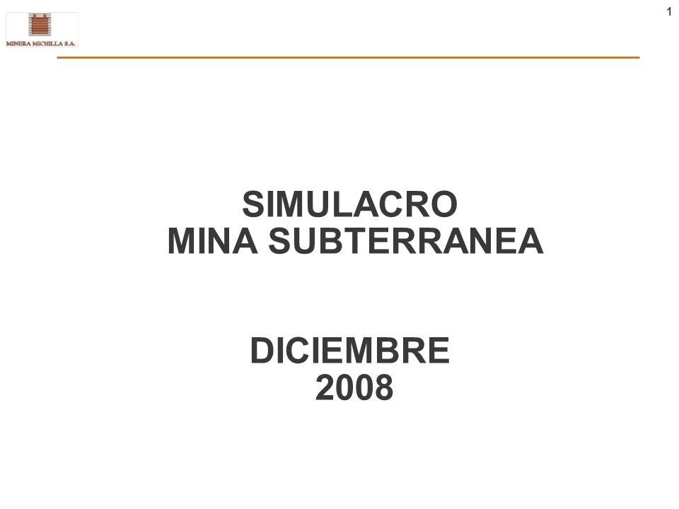 1 SIMULACRO MINA SUBTERRANEA DICIEMBRE 2008