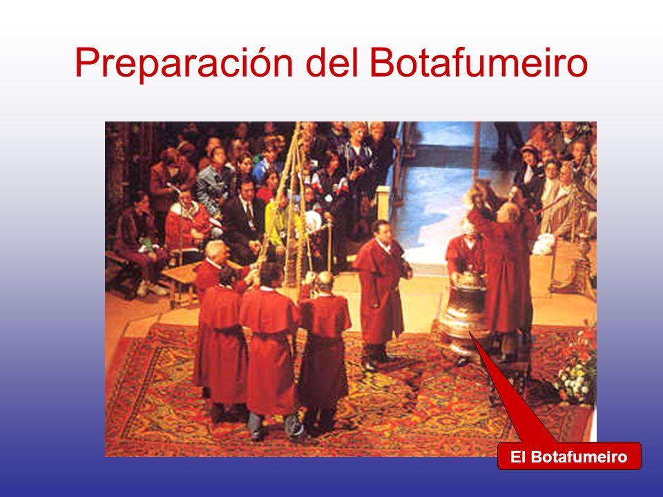 Preparación del Botafumeiro El Botafumeiro