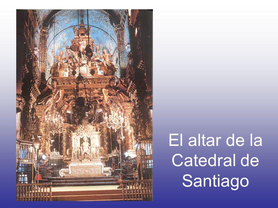 El gran altar de la Catedral de Santiago