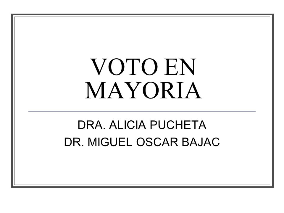 VOTO EN MAYORIA DRA. ALICIA PUCHETA DR. MIGUEL OSCAR BAJAC