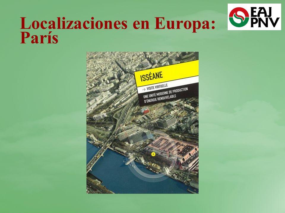 Localizaciones en Europa: París