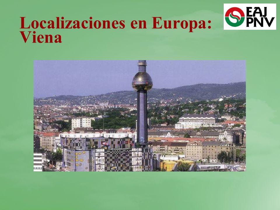 Localizaciones en Europa: Viena