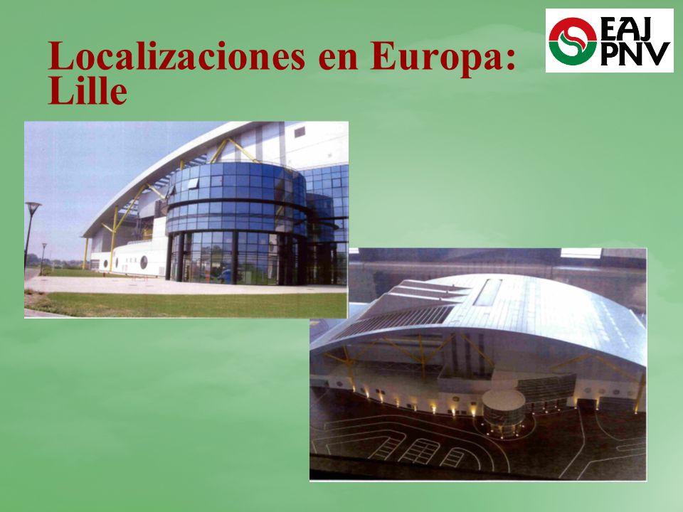 Localizaciones en Europa: Lille