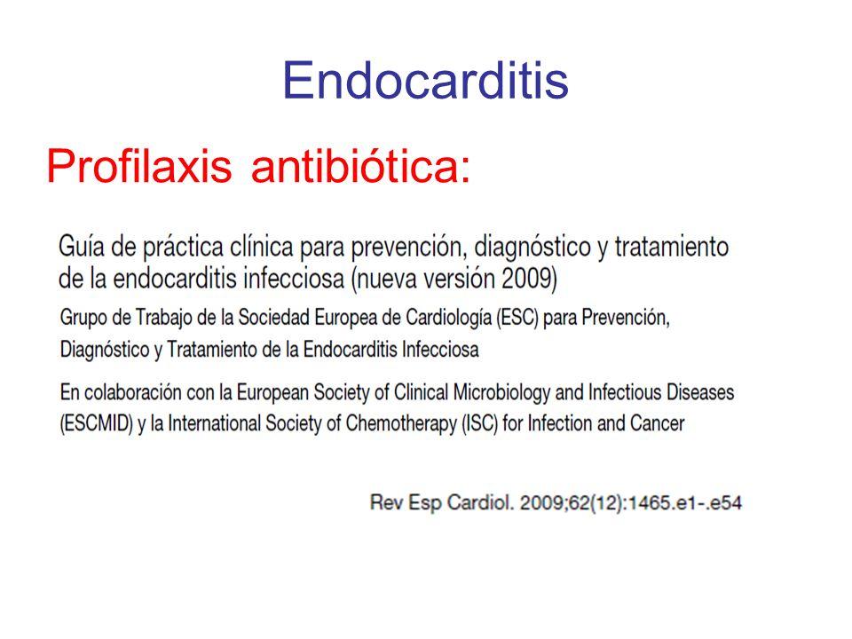 Profilaxis antibiótica: Endocarditis