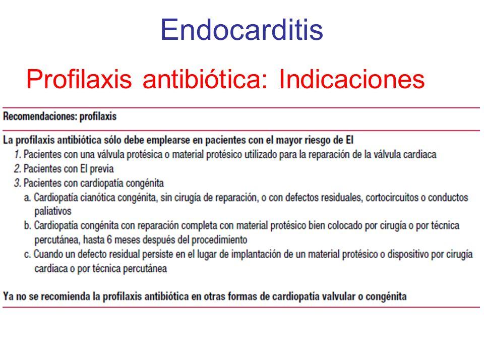 Profilaxis antibiótica: Indicaciones