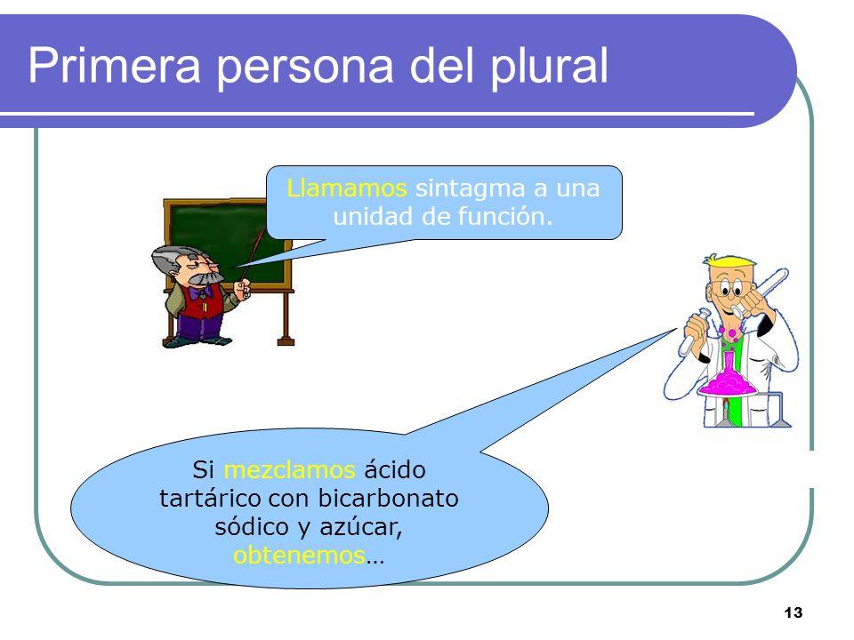 12 Tercera persona del plural Llaman a la puerta. Dada la situación, esta oración es impersonal (ocasional o eventual)