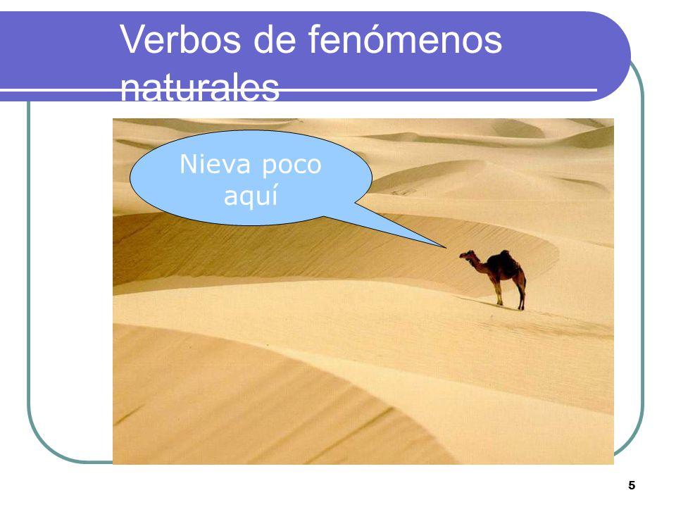 4 Verbos de fenómenos naturales Amanece muy tarde en invierno En Tenerife llueve poco