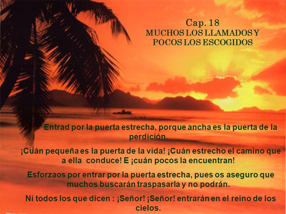 CAP. 7 SED PERFECTOS Sed, pues, vosotros otros, perfectos, como perfecto es vuestro Padre que está en los Cielos.