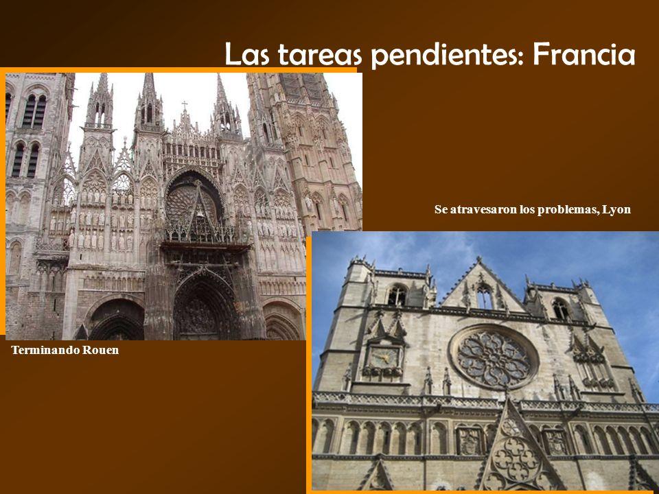 Las tareas pendientes: Francia Terminando Rouen Se atravesaron los problemas, Lyon