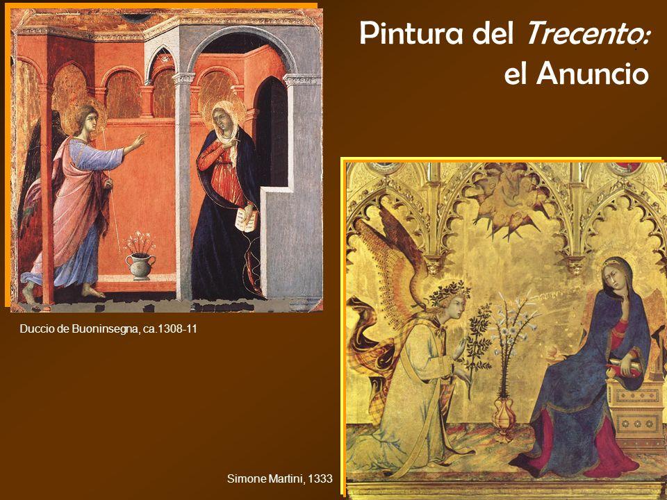 Pintura del Trecento: el Anuncio : Duccio de Buoninsegna, ca.1308-11 Simone Martini, 1333
