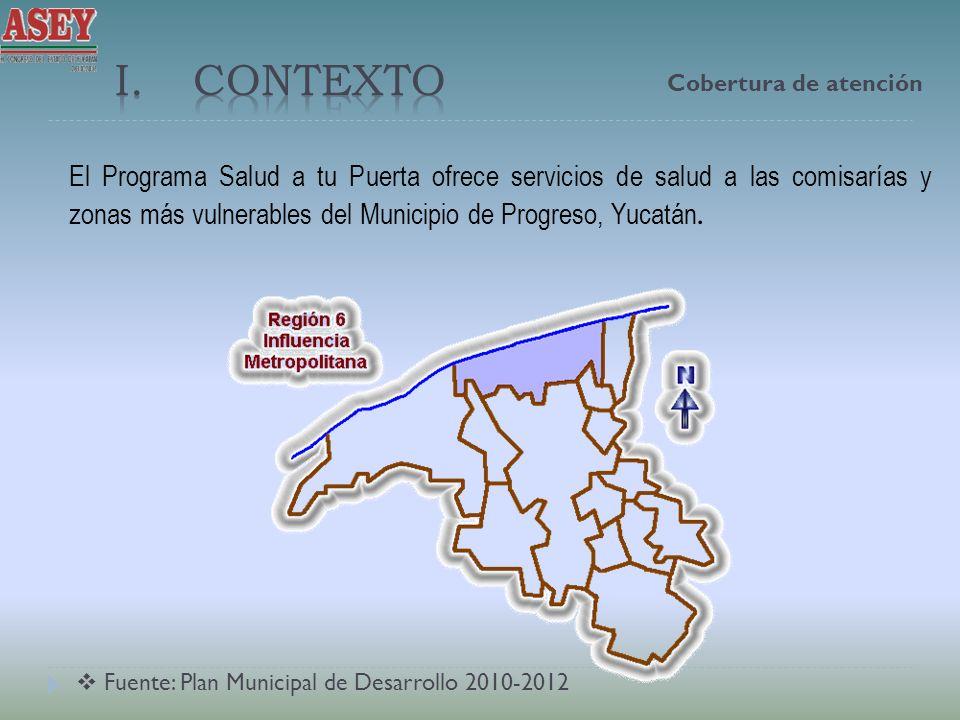 El Programa Salud a tu Puerta ofrece servicios de salud a las comisarías y zonas más vulnerables del Municipio de Progreso, Yucatán. Cobertura de aten