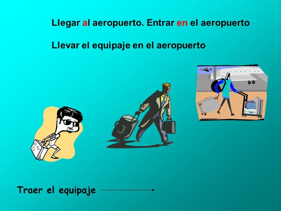 El mostrador de la línea aérea