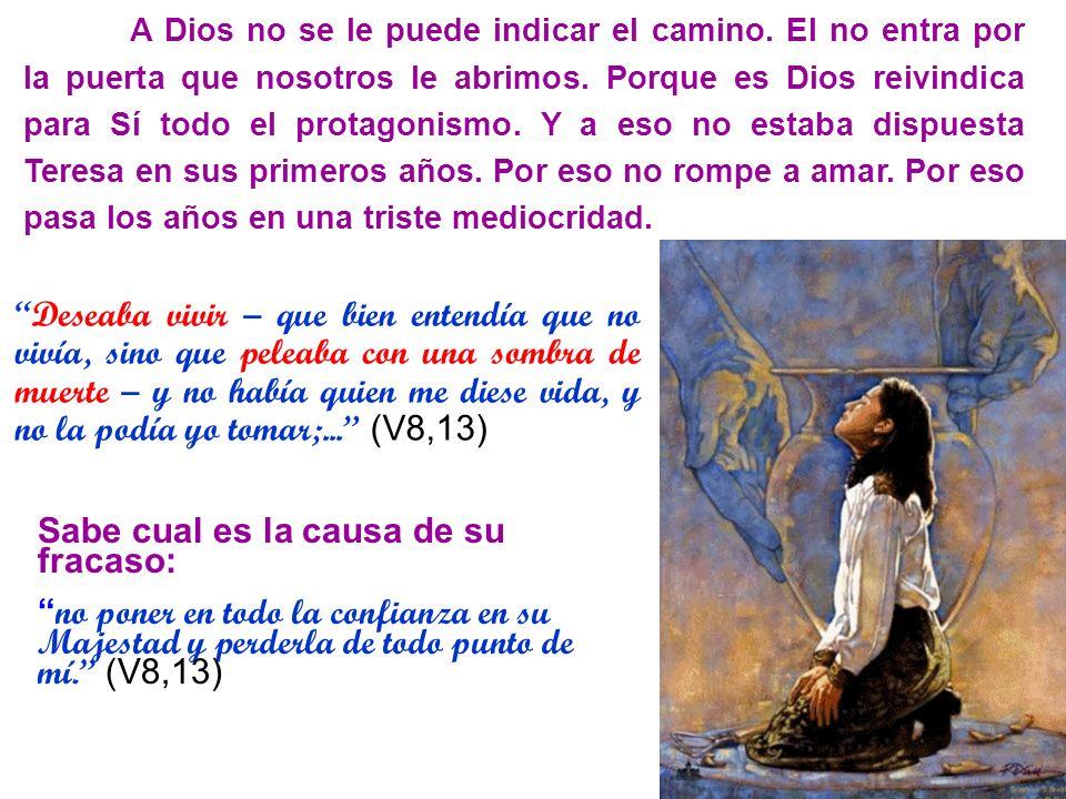 A Dios no se le puede indicar el camino. El no entra por la puerta que nosotros le abrimos. Porque es Dios reivindica para Sí todo el protagonismo. Y