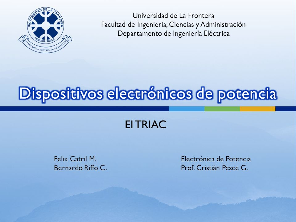 Es un componente electrónico, internamente semejante a dos SCR conectados inversamen- te en paralelo.