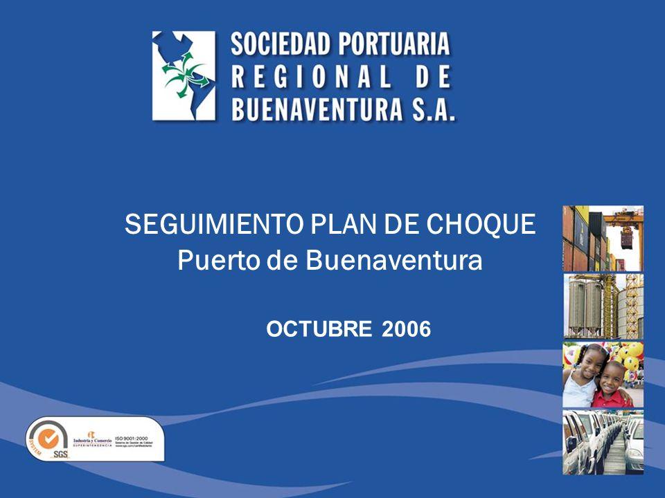 SEGUIMIENTO PLAN DE CHOQUE Puerto de Buenaventura OCTUBRE 2006
