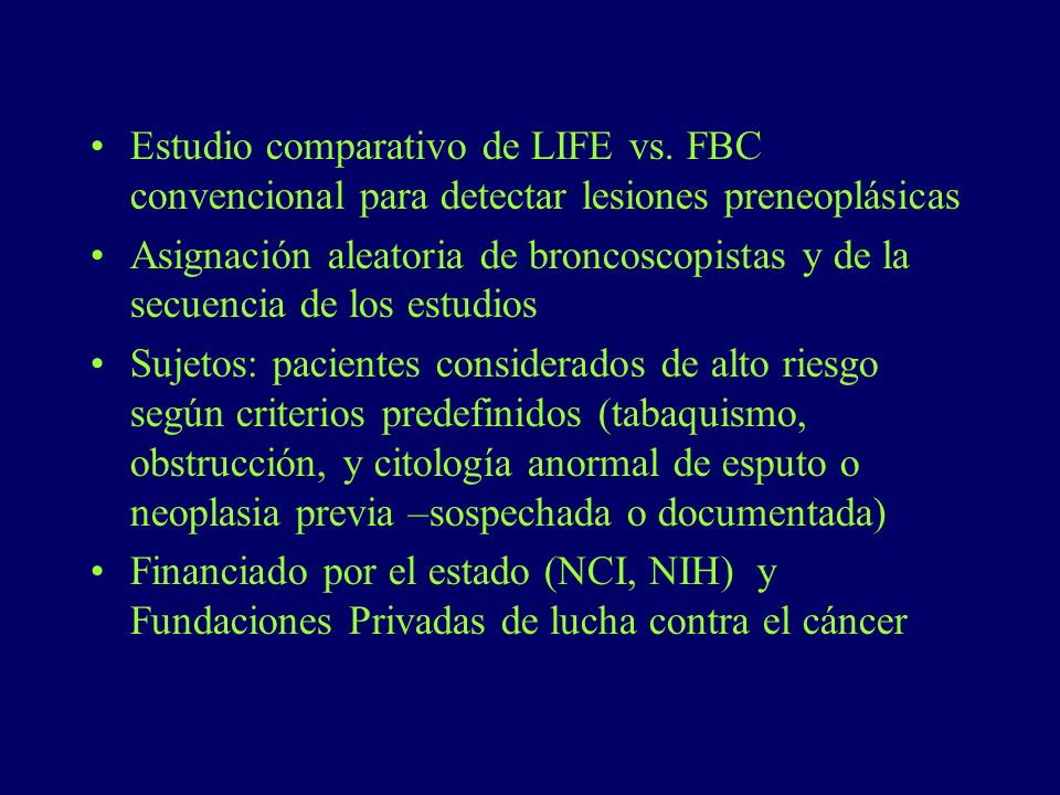 Estudio comparativo de LIFE vs.
