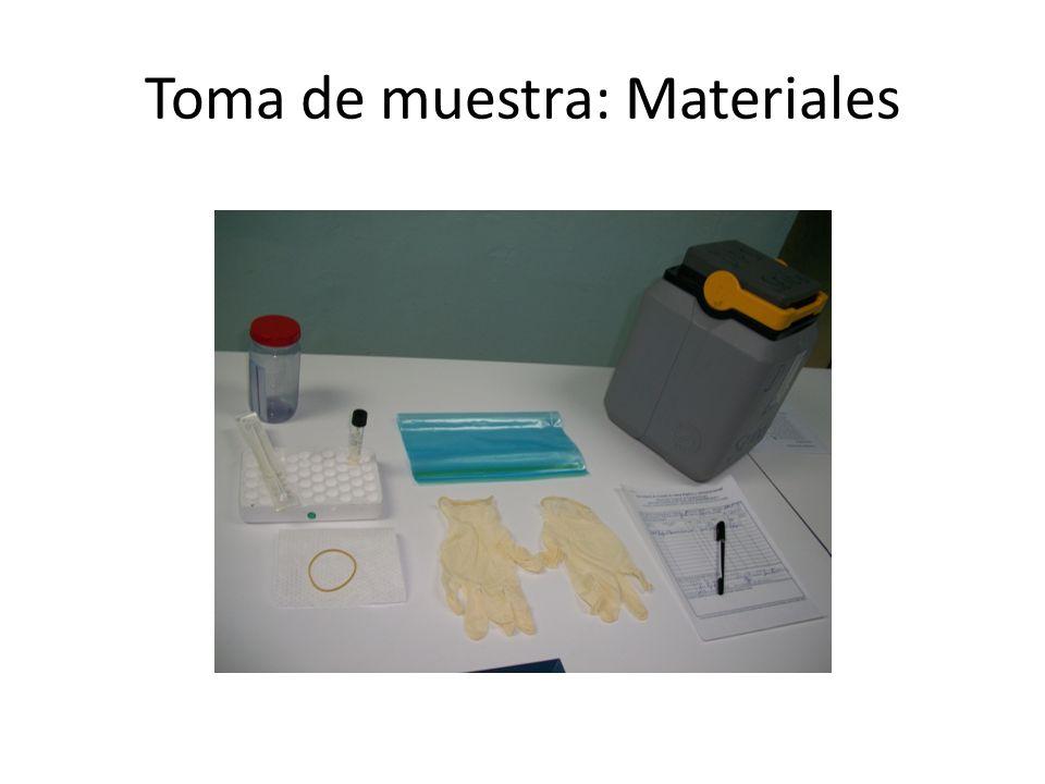 Toma de muestra: Materiales