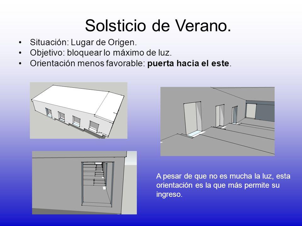 Situación: Concepción.Objetivo: bloquear lo máximo de luz.