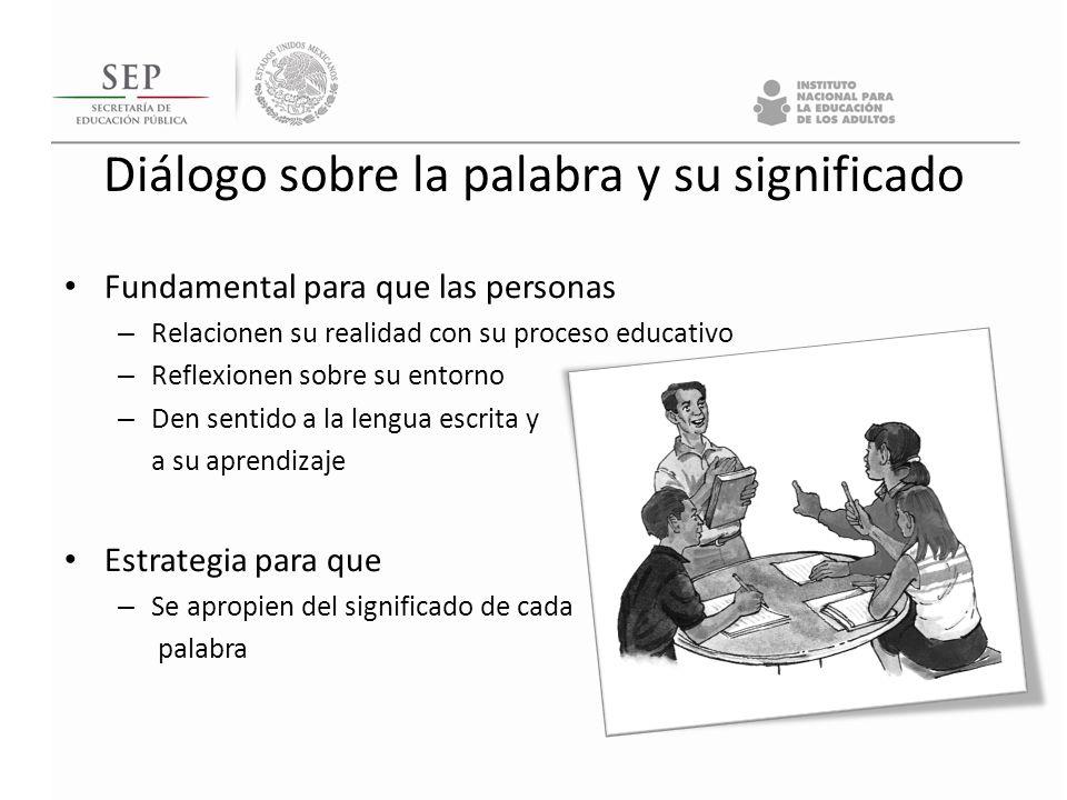 Fundamental para que las personas – Relacionen su realidad con su proceso educativo – Reflexionen sobre su entorno – Den sentido a la lengua escrita y