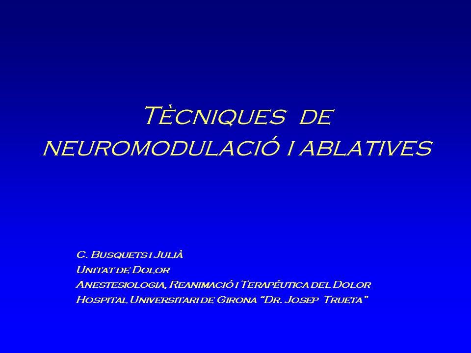 Tècniques de neuromodulació i ablatives C.
