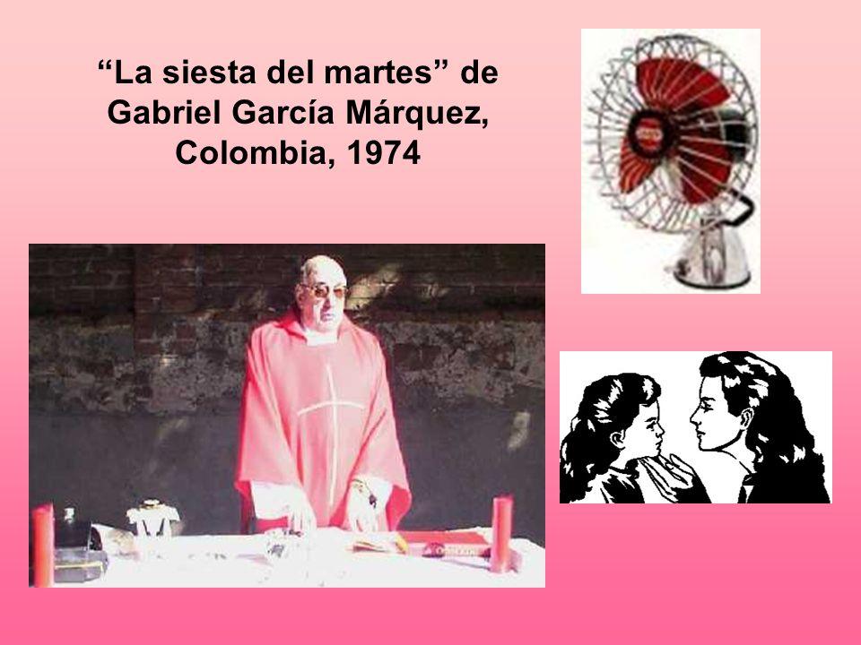 Código geográfico: La siesta del martes tiene lugar en Macondo, el pueblo imaginario de García Márquez que es parecido al pueblo de Aracataca donde fue criado.