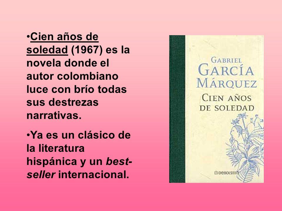 Cien años de soledad (1967) es la novela donde el autor colombiano luce con brío todas sus destrezas narrativas. Ya es un clásico de la literatura his