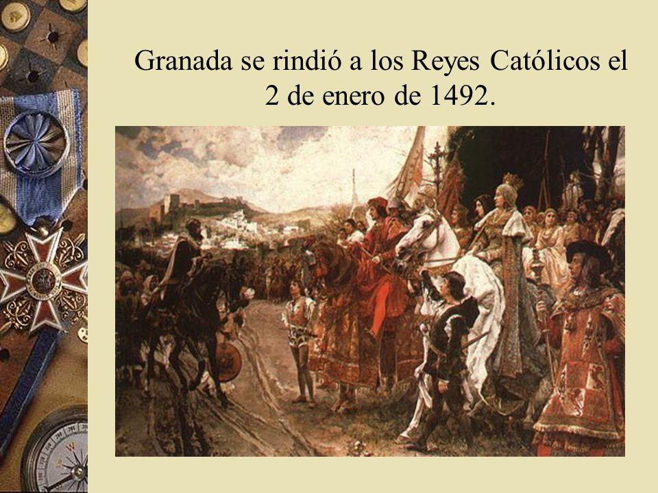 Famoso cuadro de la rendición de Granada por los moros, a manos de los Reyes Católicos