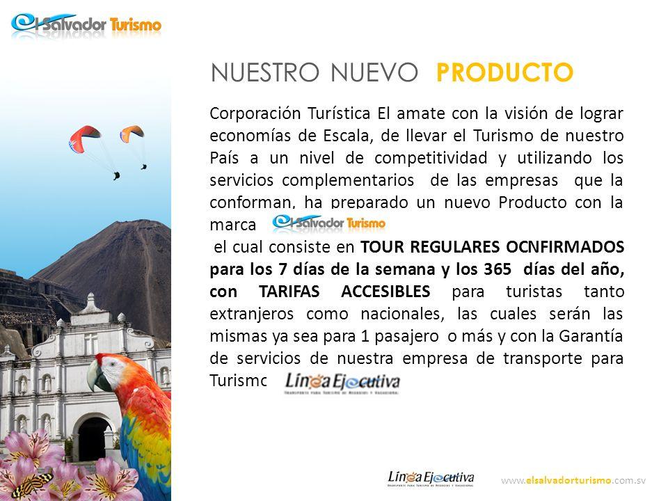 www.elsalvadorturismo.com.sv PROGRAMA DE SALIDAS DIARIAS