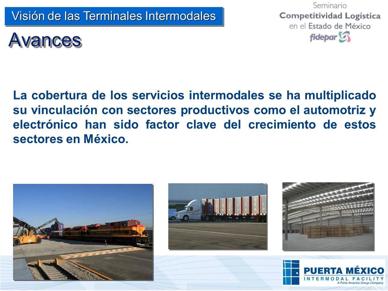 La cobertura de los servicios intermodales se ha multiplicado su vinculación con sectores productivos como el automotriz y electrónico han sido factor