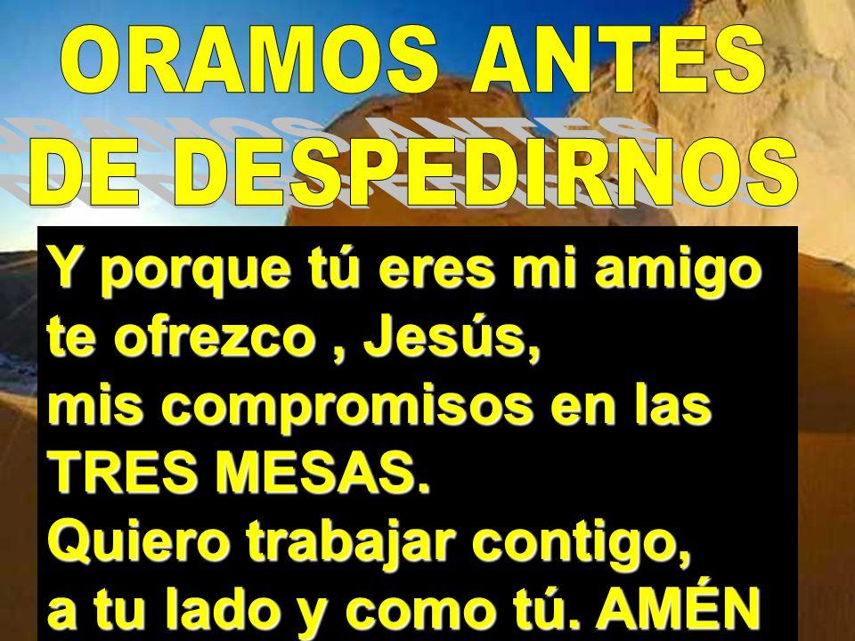 TOMADO DE LA MANO CON JESÚS YO VOY LE SIGO COMO OVEJA QUE ENCONTRÓ AL PASTOR TOMADO DE LA MANO CON JESÚS YO VOY A DÓNDE ÉL VA ( BIS ) Si Jesús me dice