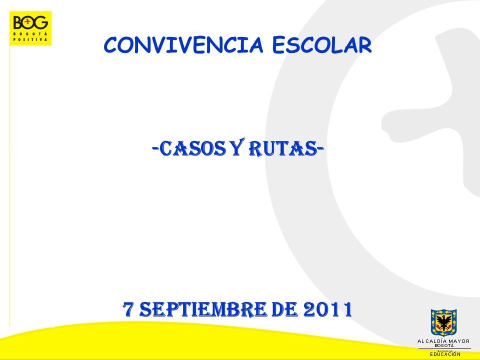 CONVIVENCIA ESCOLAR -Casos y rutas- 7 septiembre de 2011