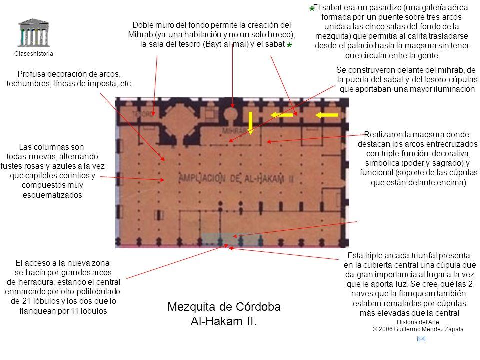 Claseshistoria Historia del Arte © 2006 Guillermo Méndez Zapata Mezquita de Córdoba Al-Hakam II.
