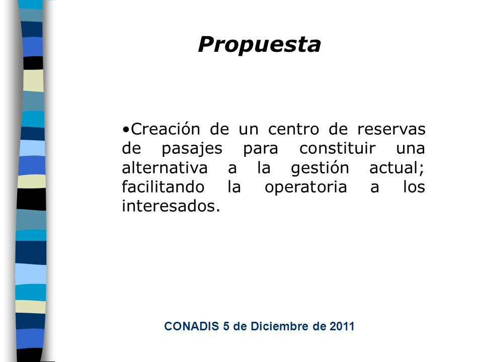 Propuesta Creación de un centro de reservas de pasajes para constituir una alternativa a la gestión actual; facilitando la operatoria a los interesados.